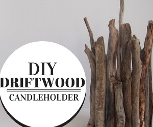 DIY Driftwood Candleholder Brings Home Rustic Summer Charm