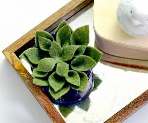DIY Felt Succulent Will Live Forever