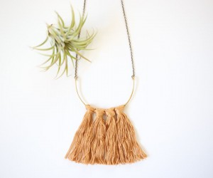 DIY Fringe Brass Necklace