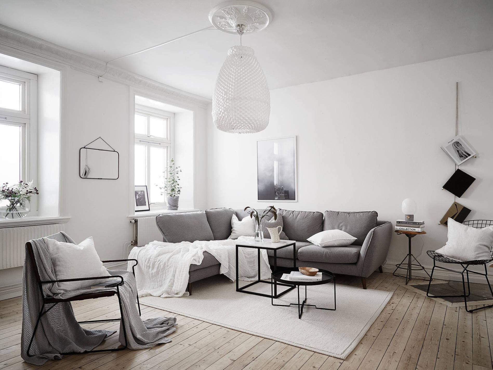 mesmerizing scandinavian living room on with later | DIY Ideas for Scandinavian Styled Living Rooms