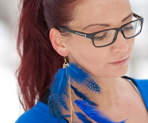 DIY Jewelry Made with Feathers