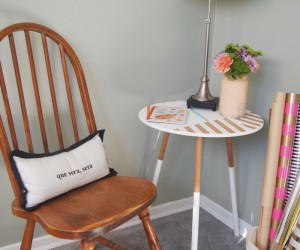 DIY: Modernize A Table with Paint and Tape