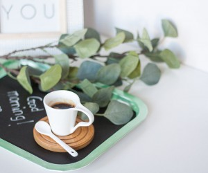 DIY No Paint Chalkboard Tray