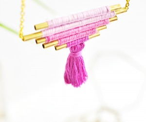 DIY Ombre Brass Necklace