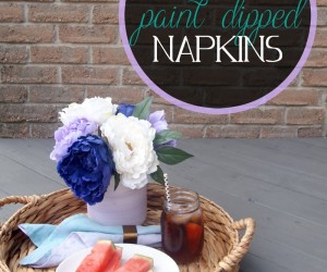 DIY Paint-Dipped Napkins Bring Color To The Table