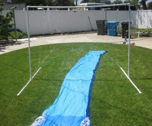 DIY Sprinkler and Slip-n-Slide Setups for Summer