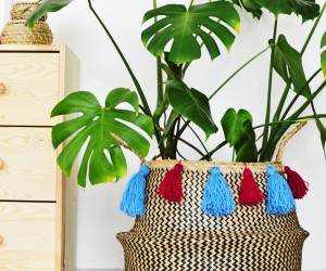 DIY Tassel Seagrass Basket