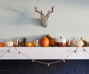 DIY Thanksgiving Acorn Garland