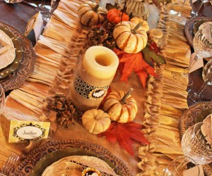DIY Thanksgiving Table Dcor