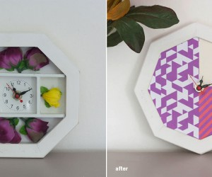 DIY Wall Clock Restyling