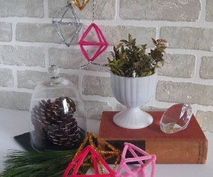 DIY Winter Decor Using Painted Pinecones