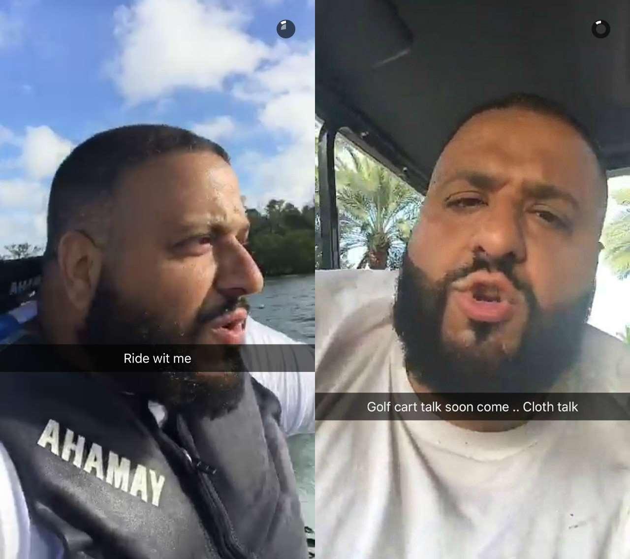 Dj Khaled On Snapchat