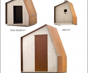 Dog House, Bird House and Garden Shed by Filippo Pisan