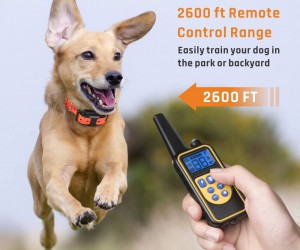 Dog Training Collar, iSPECLE Waterproof Rechargeable 2600ft Remote Dog Shock Collar