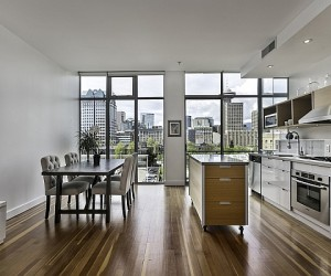 Dramatic Views, Snazzy Interior in Vancouver Loft Style Apartment