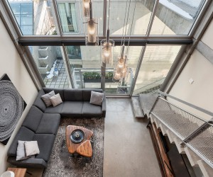 Dream Contemporary Loft Sits Snugly Inside Vancouvers Iconic Waterfall Building
