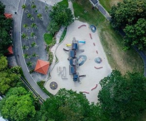 Drone Photography of Singapores Playgrounds by Stefen Chow