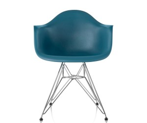 Eames Molded Plastic Armchair Wire Base By Charles Ray Eames For Herman  Miller
