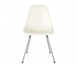 Eames Molded Plastic Side Chair 4-Leg Base by Charles  Ray Eames for Herman Miller