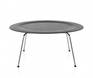 Eames Molded Plywood Coffee Table Metal Base by Charles  Ray Eames for Herman Miller
