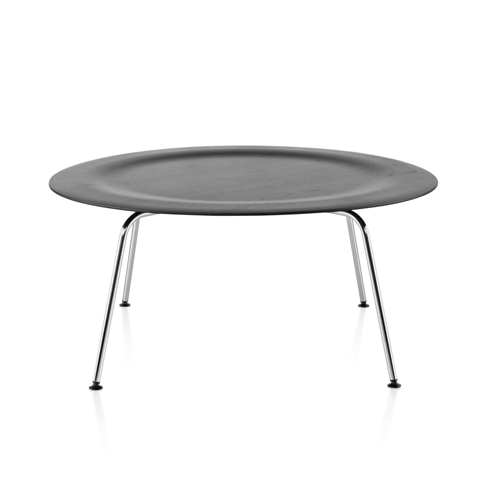 eames molded plywood coffee table metal base by charles. Black Bedroom Furniture Sets. Home Design Ideas