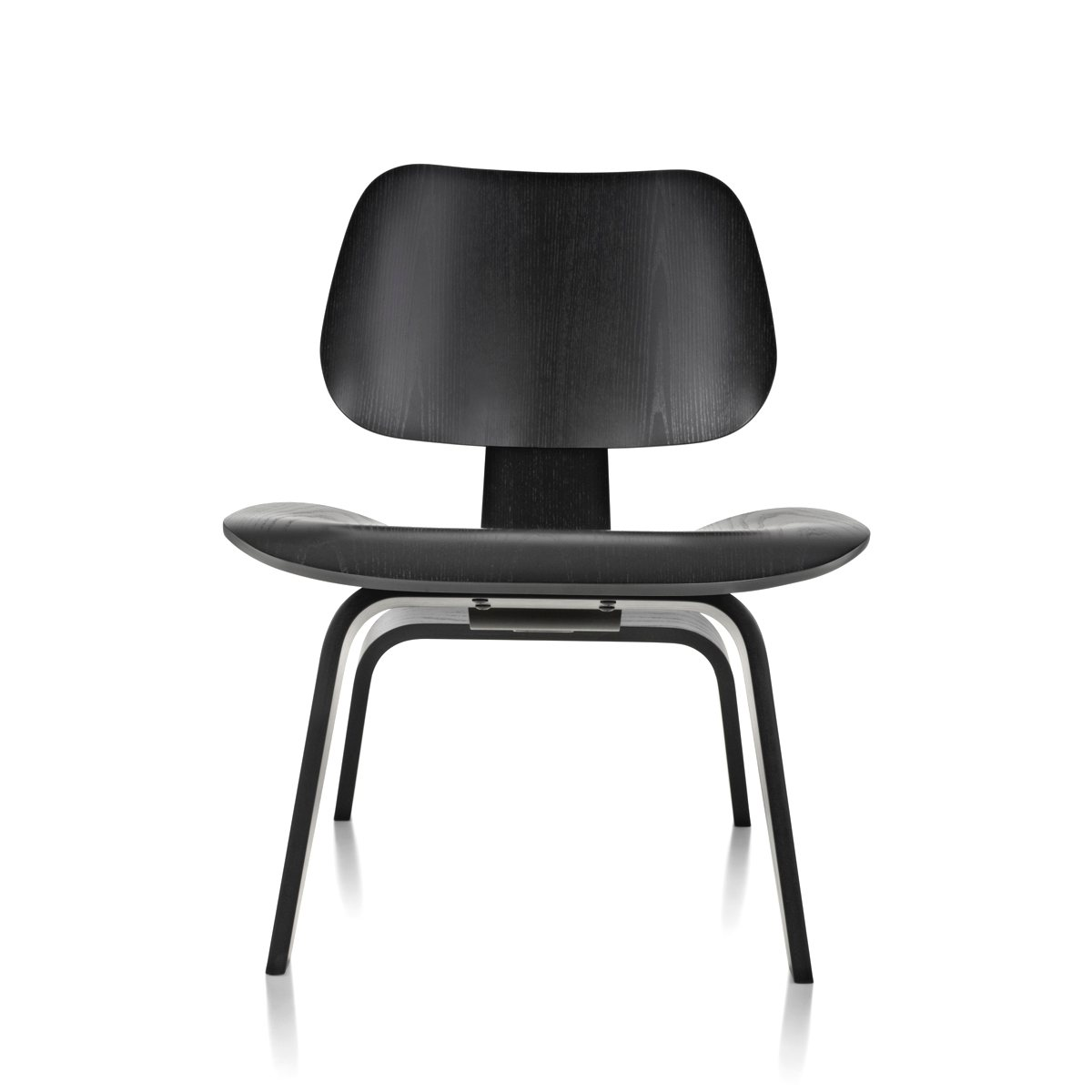 Eames molded plywood lounge chair wood base by charles ray for Charles eames lounge chair nachbildung