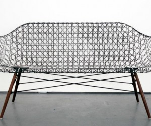 Eames Sofa: Entirely Out of Carbon Fiber