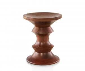 Eames Walnut Stool A Shape by Charles  Ray Eames for Herman Miller