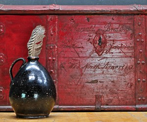 Early 1800s Federalist Era Thorvald Bredson Dome Top Trunk