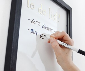 Easiest DIY Whiteboard Youll Ever Make