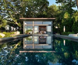 Eastern Point Retreat: Modern Guesthouse Overlooks Gloucester Harbor