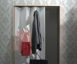 Closet Door With Hooks That Fold Out