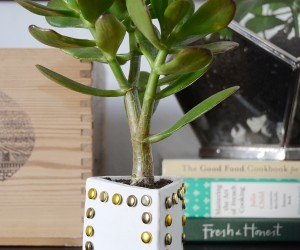 Easy DIY Studded Planter