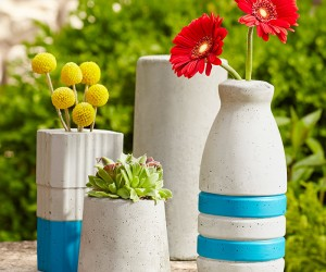 Easy to make concrete vases