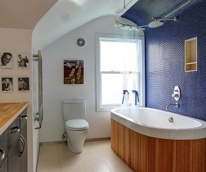 Eclectic Bathrooms with a Splash of Delightful Blue