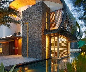 Eco-Friendly Waterfront House in Singapore: Nautical Lines