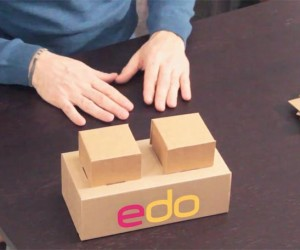 Edo: Life-Sized Cardboard Bricks