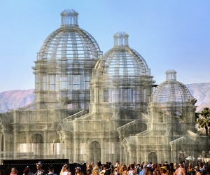 Edoardo Tresoldi Sculpts Wire Mesh Cathedrals At Coachella