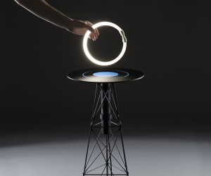 ElectroMagnetic table by Florian Dussopt