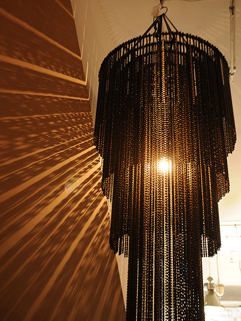 Elemental Bicycle Chain Chandelier