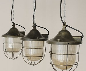 elemental | Grey Prismatic Cage Lamps