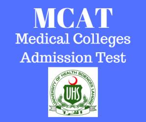 MDCAT Medical  Dental Colleges Admission Test