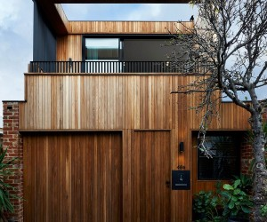 Envisioned for an Urban Lifestyle: Timber-Clad Y Residence in Prahran