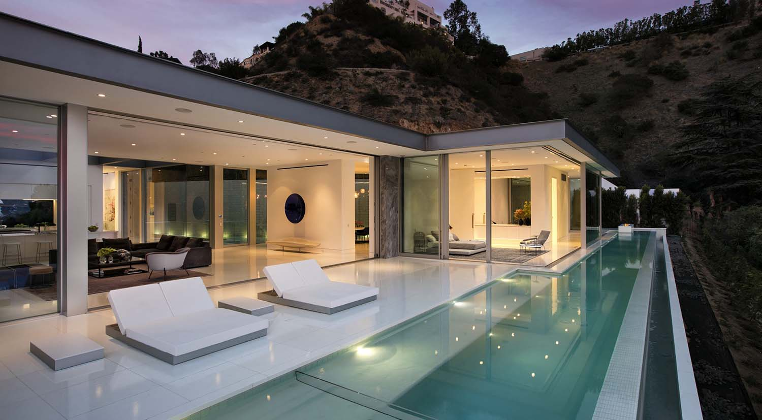 Epic Architectural Masterpiece Overlooking The Hollywood Hills - Hollywood-hills-architectural-masterpiece
