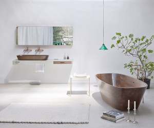 Exceptional Shell Bathtub  Wash Basin Meant to Induce Comfort and Good Vibes