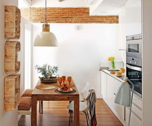 Exposed brick and vintage accents in Barcelona