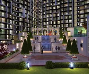 Exterior Design Rendering For Residential Modern Appartment