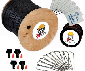 Extreme PRO-Grade Complete Boundary Kit  Includes Perimeter Wire, Twisted Wire, Flags, Splices, and Staples