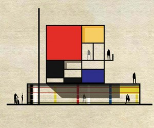 Famous Artworks Reimagined as Architecture