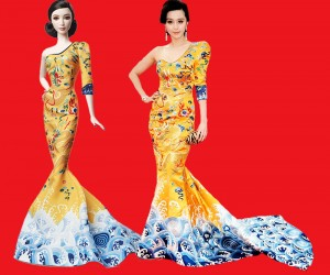 Fan Bingbing Barbie in Laurence Hsu Gown